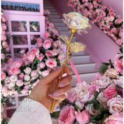 24K kullatud roosid 5 tk