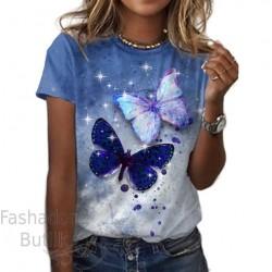T-särk liblikatega