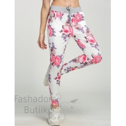 Lillemustrilised vabaaja püksid
