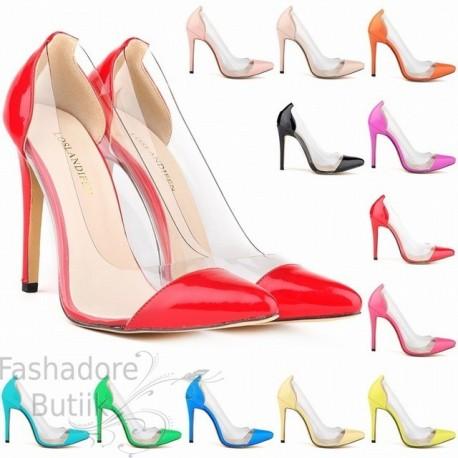Läbipaistva osaga kingad