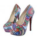Desiguali stiilis värvilised kingad