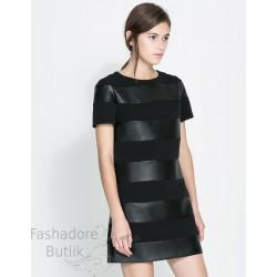 Kunstnahast osadega kleit