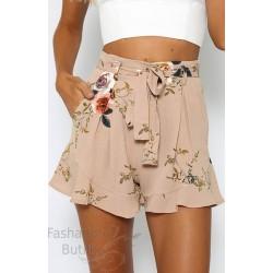Lillemustrilised püksid