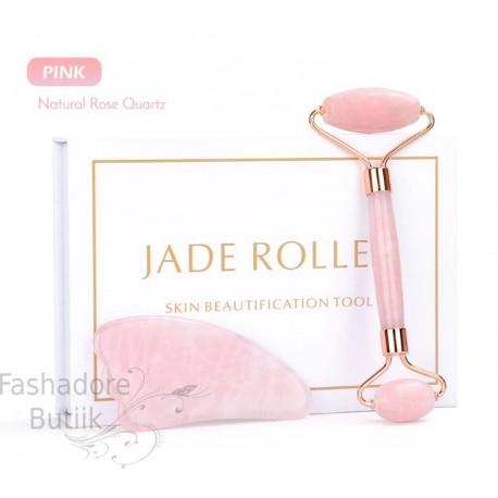 Jade roller roosa kvarts