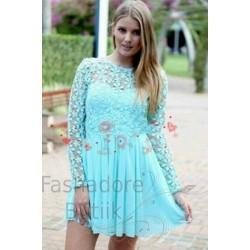 Heegeldatud varrukatega kleit